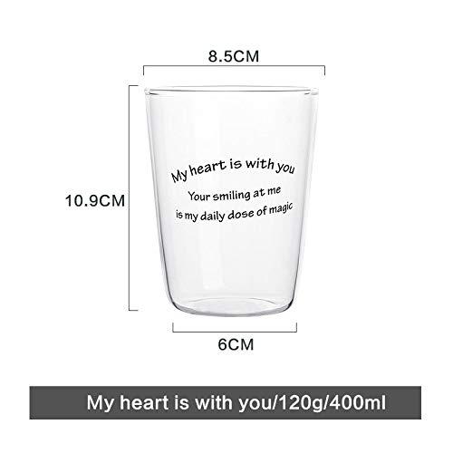 MAKEBEIZI Kaffeetassen Kreative Glasschale Trinkbecher Glas Weinglas Saftschale Getränkeschale...