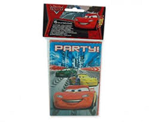 6 cartes d'invitation Cars Racers™