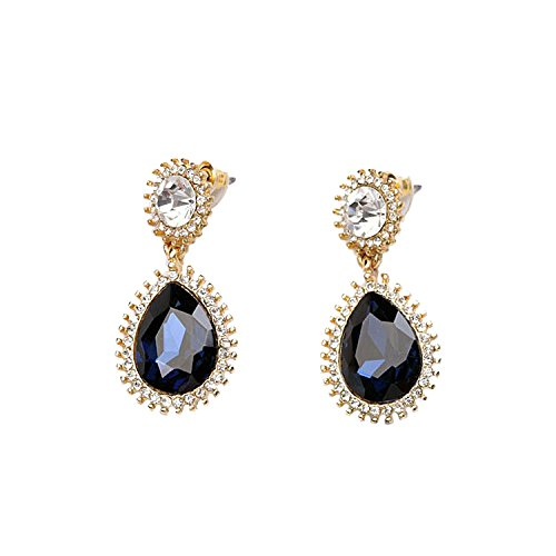 FemNmas Blue Crystal Gemstone Fashion Earring For Girls & Women