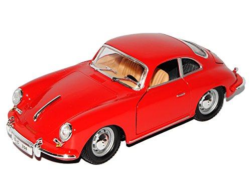 Bburago Porsche 356b Coupe Rot 1959-1963 18-22079 1/24 Modell Auto mit individiuellem Wunschkennzeichen