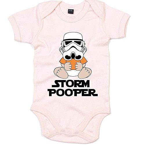 Pooper Babybody Liebe Science Fiction Familie Langarm Langärmliger Strampler, Farbe:Babyrosa (Powder Pink BZ10);Größe:3-6 Monate (Kostüm Ideen Für Familie Von 3)