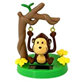 Swinging Cute Monkey Solar Powered Toy, Solar Dancing Toys for Car Decor by Thrifty Shopper
