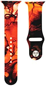 Kess InHouse 42mm Claire Day Strap for Apple Watch Band - Retail Packaging - Vesuvius Red Dark