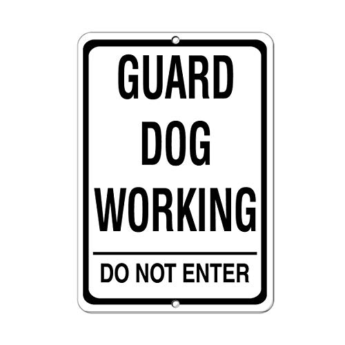 AdolphTim Schutz-Hund Do Not Enter Pet Animal Aluminium Metall Schild 20,3 x 30,5 cm -