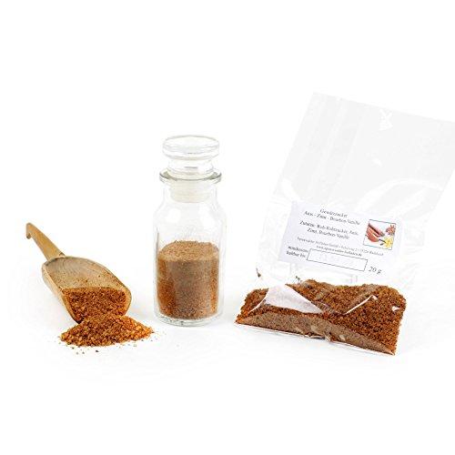 Gewürzzucker Anis - Zimt - Bourbon Vanille, Eis Topping, Smoothie Zutaten Zucker Natur, Zucker vegan, Dekor Backzutaten, glutenfrei, lactosefrei, 20g