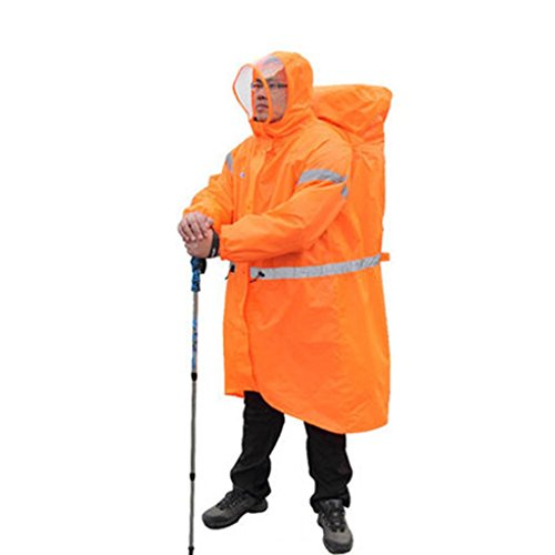 Yuany Outdoor-Regenmäntel, Multifunktionale Regenmantel Poncho Wandern ultraleichten Rucksack verbunden Poncho wasserdicht Männer und Frauen (Farbe: A-S) (Mädchen, Lange In Der Rückseite Jacken)