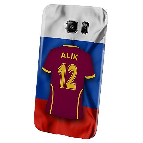 PhotoFancy – Samsung Galaxy S6 Handyhülle Premium – Personalisierte Hülle mit Namen Alik – Case mit Design Fußball-Trikot Russland EM 2016