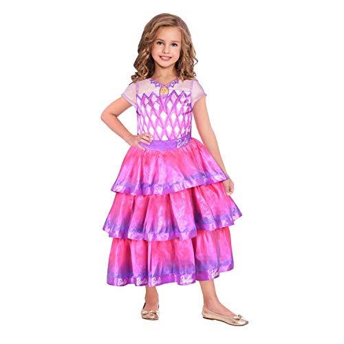 rkostüm Barbie Edelstein Ballkleid Mädchen Rosa 134 cm ()