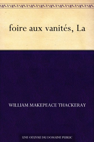 Couverture du livre foire aux vanités, La