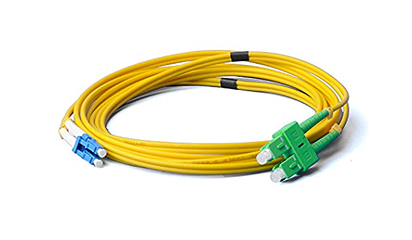 Lwl Glasfaser Kabel 1m Os2 Gelb Lc Upc Auf Sc Elektronik