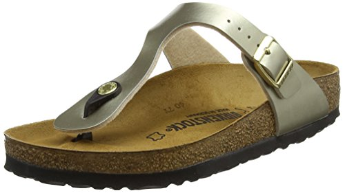 BIRKENSTOCK Damen Gizeh Zehentrenner, Gold (Soft Metallic Gold Soft Metallic Gold), 39 EU
