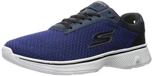 Skechers Go Walk 4, Scarpe da Ginnastica Basse Uomo Blue