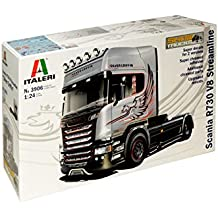 "Italieri Modelo Camión Scania R730 V8 Plata Griffin Streamline """