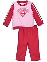 Jogging Bebé niña 'Superbaby' Superman rosa de 6a 23meses