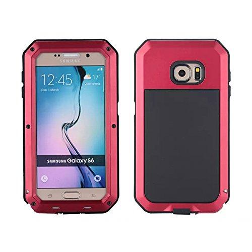 Wendapai Samsung Galaxy S6 G9200 wasserdicht Hülle, IP-68 wasserdicht stoßfest Dust Proof Snow Proof Full Body Schutz Hülle Hülle zum Samsung Galaxy S6 G9200 Screen - Red