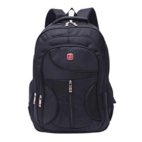 nsrzhp Zaino per laptop 15.6, Sport Uomini Donne Nero Zaino business zaino borsa per notebook, per pacchetto campeggio tripla protezione scomparto con tasca per iPad/Tablet/Ereader