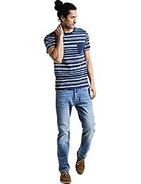 3bbe4119c52f Pier One Jeans Herren - Straight Leg Regular Fit Denim Hose gerade in  Dunkelblau, Hellblau