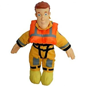 Sam el bombero -Fireman Sam - Sam Beanie Doll contramaestre 18cm Sam en el equipo del Bott - Equipo de rescate con Cara del vinilo, vinilo manos y el cuerpo blando. Dimensiones: H 18 cm Advertencias del fabricante: Por favor, retire todo el mat...