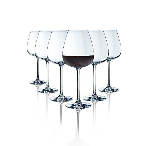 Copas de vino Tinto Arcoroc / 620 ml / set de 6 / Gafas de alta calidad/ apto para lavavajillas