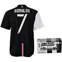 Maglia Cristiano Ronaldo 7 Ufficiale Autorizzata 2019-2020 Bambino (Taglie-Anni 2 4 6 8 10 12) Adulto (S M L XL) con Firma Stampata Limited Edition + Omaggio Mini Jeep Renegade Juventus (8/9 Anni)
