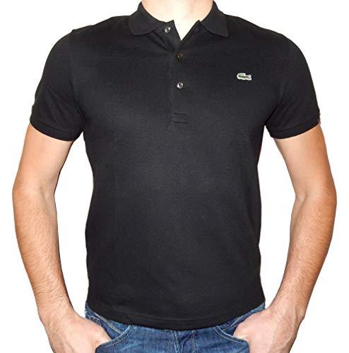 Lacoste Herren Regular Fit Poloshirt L1212 Einfarbig, Schwarz (BLACK 031), M (Herstellergröße: 4) - Lacoste Klassisches Polo-shirt