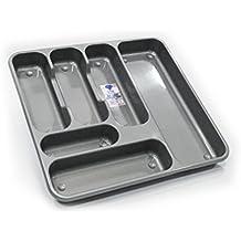 TML bandeja de cubertería grande plata