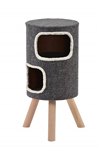 Wohnhöhle für Katzen und kleine Hunde grau mittelhoch 'Style' Gr.2