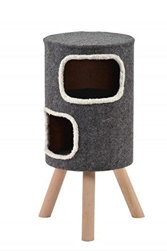 *Wohnhöhle für Katzen und kleine Hunde grau mittelhoch 'Style' Gr.2*