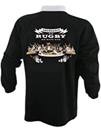 Hasta le Rugby By Serge Simon -Maillot Abondance de Rugby ne nuit pas - Version 3eme mi - temps -