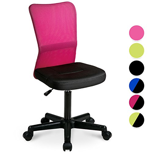 Merax® Schreibtischstuhl Kinder Drehstuhl Bürostuhl Arbeitsstuhl Netz,53x58x97cm Dunkelpink