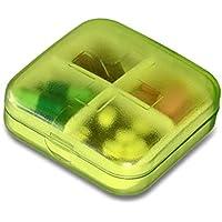 Delicacydex Kleine Klare Pill Box Portable Reise Vitamin Fall Speicherorganisator mit Abnehmbaren mehrere Fach Pillen Container