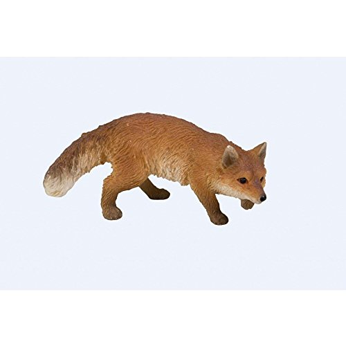 MW04-008 Miniatures animaux – Ensemble renard rôdeur & hibou Harfang