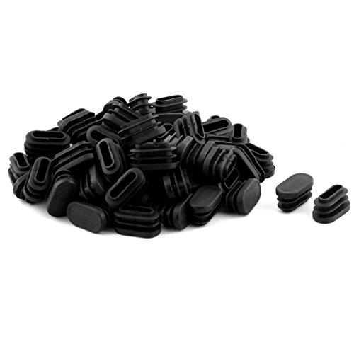 Sourcingmap® Chaise Table Pieds en Plastique Ovale en Forme Tube Tuyau Noir 70 PCS Embouts Embouts
