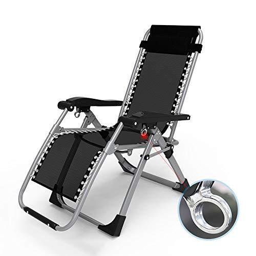 Siesta Nickerchen Bett Balkon Garten Sonnenbaden Lounge Chair Büro Deck Chair Outdoor Strand Camping Klappstuhl Schwarz Lager Gewicht 150 kg GW