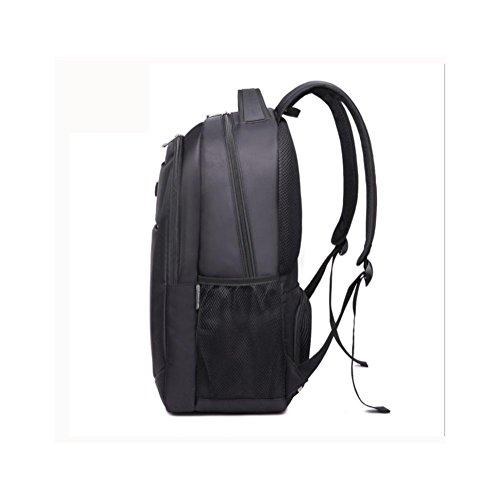 3208717ae1 ... Backpack da viaggio Nylon Laptop zaino 15,6 pollici , Black Black ...