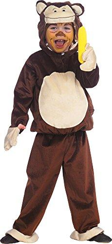 Affenkostüm braun-beige für Jungen | Größe 104-128 | 1-teiliges Tier Kostüm | Gorilla Faschingskostüm für Kinder | Tierkostüm für Karneval (98)
