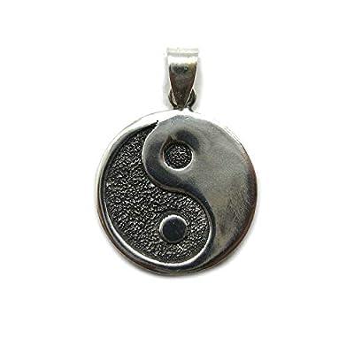 Pendentif en argent massif 925 Yin Yang PE001312