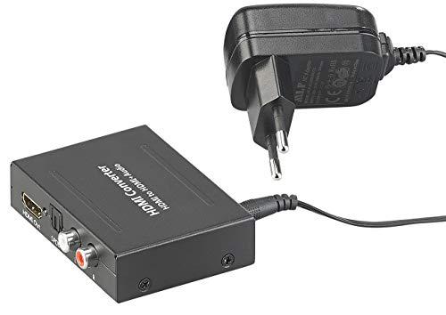 auvisio HDMI Audio Extractor: HDMI-Audio-Konverter zu TOSLINK (optisch, 5.1) und Stereo-Cinch (2.0) (HDMI Audio Splitter) (Von Hdmi-konverter Cinch)