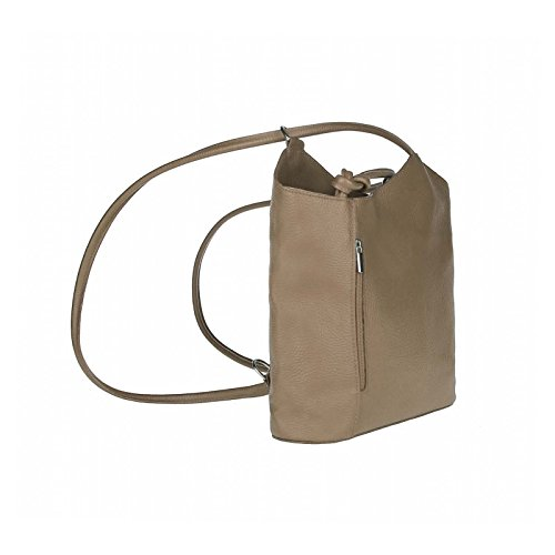 OBC MADE IN ITALY ledertasche-rucksack Strauss Prägung BORSETTA DA DONNA 2 in 12 in 1 Borsa a tracolla borsa a bauletto a Tracolla Tablet/iPad circa 10-12 pollici 27x29x8 cm ( BxHxT ) talpa