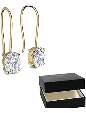 Ohrhänger Zirkonia Gold hochwertig vergoldet! Hängende Ohrringe + inkl. Luxusetui + *- Ohrringe Hängend Ohrschmuck...