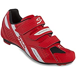 Spiuk Rodda Road - Zapatillas unisex, color rojo / blanco, talla 44
