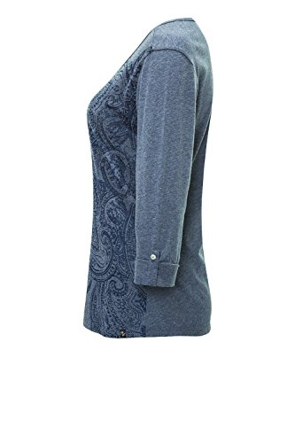 Key Largo Damen Langarmshirt Longsleeve Print Dark Blue Melange 1218