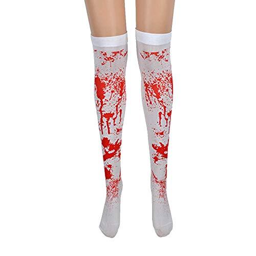 WSJDE Fashion Frauen Kleid Socken Strümpfe Halloween Gothic Grusel Krankenschwester Zombie - Krankenschwester Gothic Kostüm