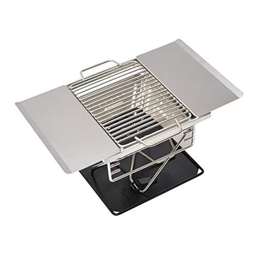 WYX Barbacoa al Aire Libre Parrilla, Acero Inoxidable Barbacoa Barbacoa de carbón Fumador Plegable Portátil para cocinar al Aire Libre Senderismo Picnics Mochilero