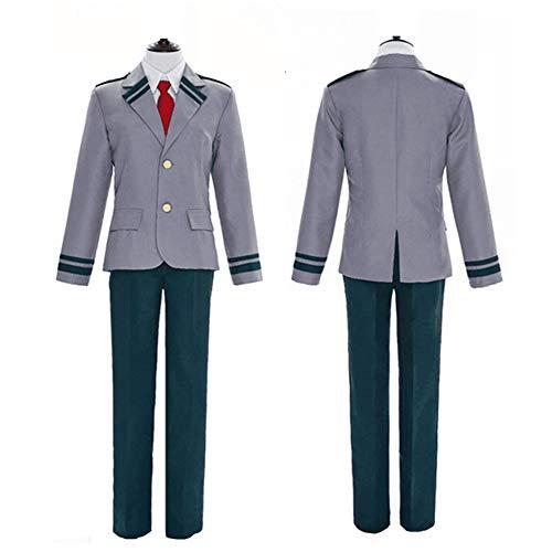 ZQ Männer Frauen Akademie Cosplay Kostüm Schuluniform Mantel mit Hosen/Röcke Dunkelgrün - Mädchen Für Akademie-kleidung