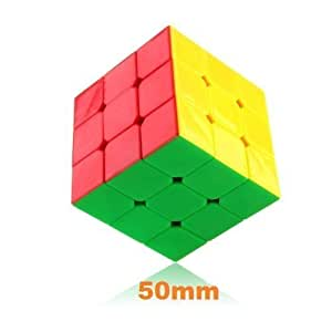 DaYan 50mm ZhanChi 3 x 3 6 Color Stickerless Small 5cm Speed Cube Puzzle by Dayan