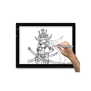 Huion Adjustable Lightness 17.7 Inch (Diagonal) LED Animation Artcraft Tatoo Quilting Tracing Light Box - A4