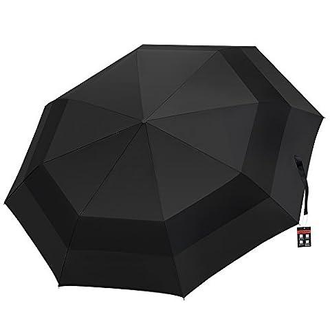 HODGSON Parapluie Pliable,Windproof Double Couche, Ouverture et Fermeture Automatique Pliage Parapluie Pluie Noir Pour Homme et