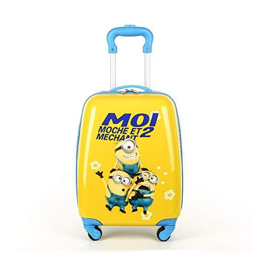 LYFLY Kinder Trolley Schultasche Cartoon Reise Koffer Kind Student 18-Zoll-Männer und Frauen Baby-trons