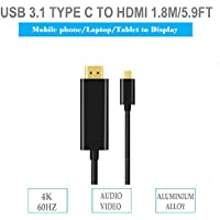 USB C to HDMI Cable (5.9ft/1.8m) | USB Type C to HDMI 4K